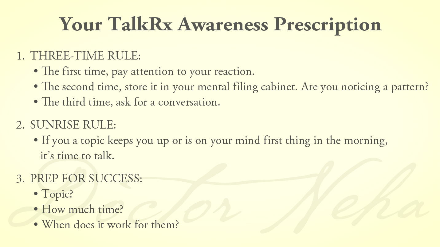 3 Tips for Successful Conversations + Your Awareness Prescription